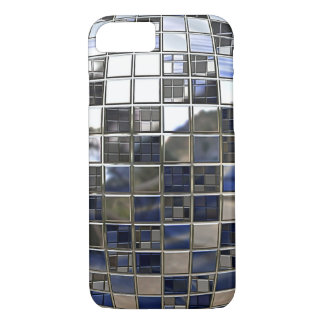 Silver and some Blue Disco Ball Mirrors iPhone 7 Case