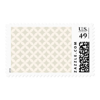Silver and Tan Geocircle Design Postage Stamp