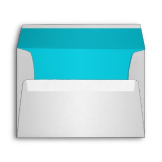 Silver and Turquoise Floral Envelope for 5