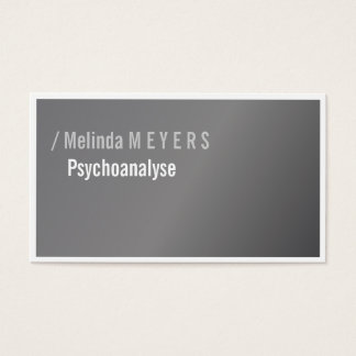 Silver and Typography, elegant, bold Business Card