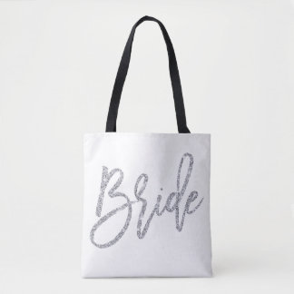 Silver And White Bride Wedding Bags