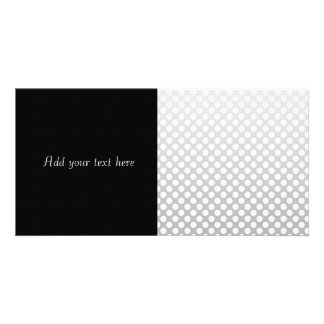Silver and White Polka Dots Card