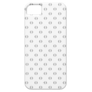 Silver And White Polka Dots iPhone Case iPhone 5 Case