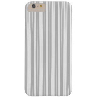 Silver and White Stripes Barely There iPhone 6 Plus Case
