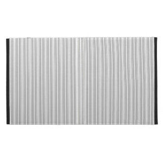 Silver and White Stripes iPad Folio Cover