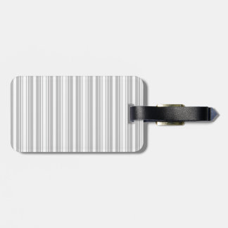Silver and White Stripes Tags For Bags