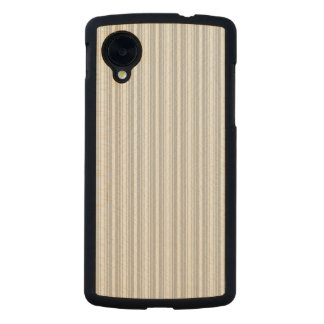Silver and White Stripes Carved® Maple Nexus 5 Slim Case