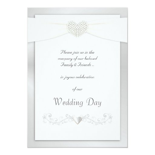 Silver And White Wedding Invitations: Silver And White Wedding Invitations