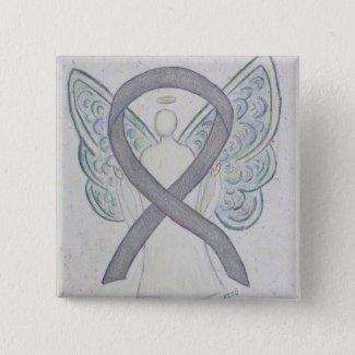 Silver Angel Awareness Ribbon Art Pins