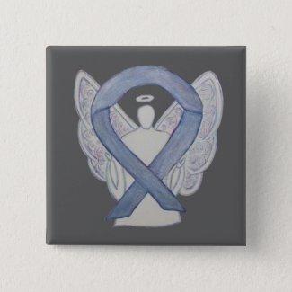 Silver Angel Awareness Ribbon Custom Art Pins