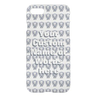 Silver Angel Awareness Ribbon Custom iPhone Cases