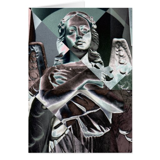 Silver Angel Greeting Card