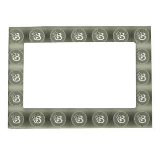 Silver Angel Monogram Letter B Magnetic Photo Frame