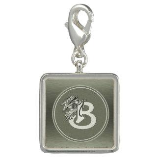Silver Angel Monogram Letter B Bracelet