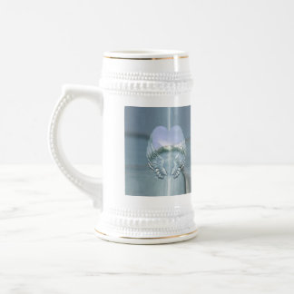 Silver Angel Wings Wrapped Around a Heart Beer Stein