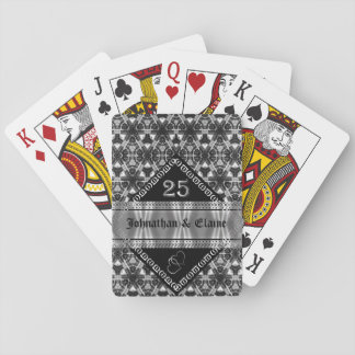 Silver Anniversary (25) Patterned Playing Cards