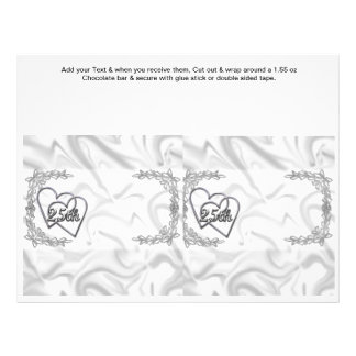 Silver Anniversary 25th Custom Candy Bar Wrappers Flyer Design