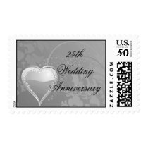 silver anniversary 25th matching stamp