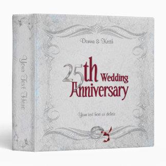 Silver Anniversary 3 Ring Binder