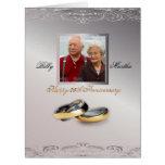 Silver Anniversary Custom Personalized Photo Card