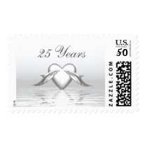 Silver Anniversary Dolphins and Heart Postage