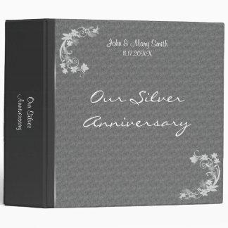 Silver Anniversary Flourish Elegance Avery Binder