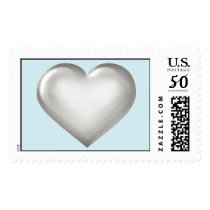 Silver anniversary heart postage