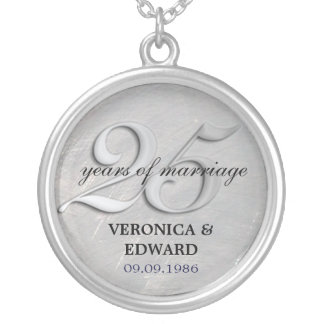 Silver Anniversary Necklace