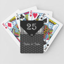 Silver Anniversary Patterned Bicycle Playing Cards