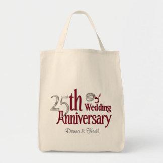 Silver Anniversary Tote Bag