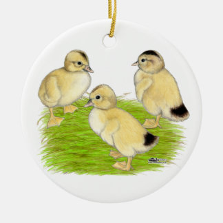 Silver Appleyard Ducklings Ceramic Ornament