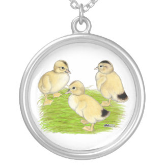 Silver Appleyard Ducklings Pendants