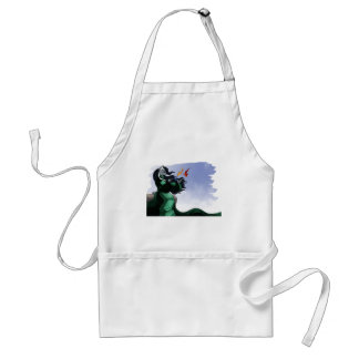 Silver Adult Apron