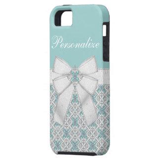 Silver Aquamarine Jewels iPhone 5 Case