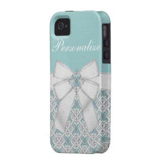 Silver & Aquamarine Jewels iPhone 4/4S Case