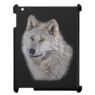 Silver Arctic Wolf Wildlife Art Portrait Case For The iPad