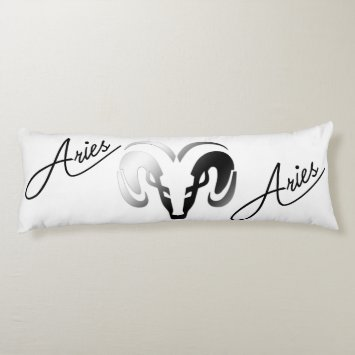 Silver Aries the Ram Zodiac Body Pillow
