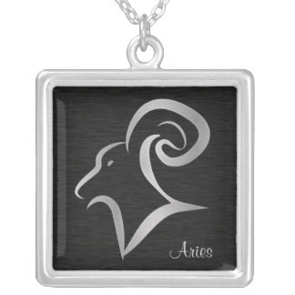 Silver Aries Zodiac Symbol Silver Plated Necklace