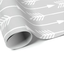 Silver Arrows Pattern Wrapping Paper