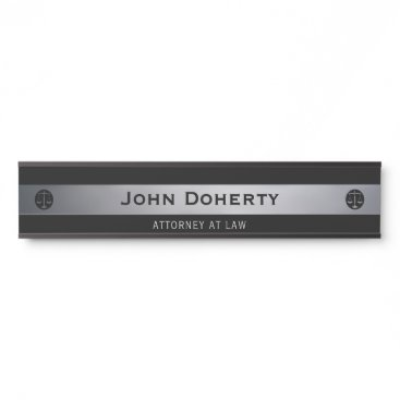 Silver ATTORNEY AT LAW | Lawyer Door Sign