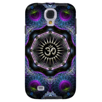 Silver Aum Hexagon Fantasy Fractals S-Galaxy 4 Galaxy S4 Case