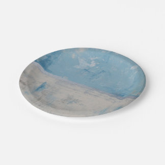 Silver Aura Paper Plate