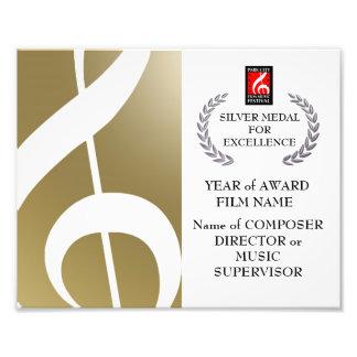 Silver Award Certificate Photo Art