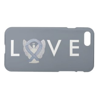 Silver Awareness Angel Ribbon Custom iPhone 7 Case