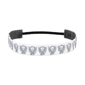 Silver Awareness Ribbon Angel Custom Headband