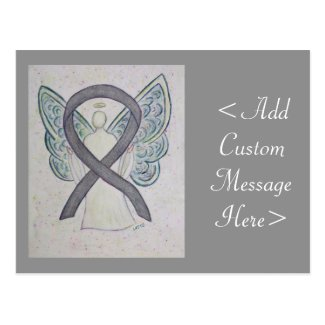 Silver Awareness Ribbon Angel Custom Postcard
