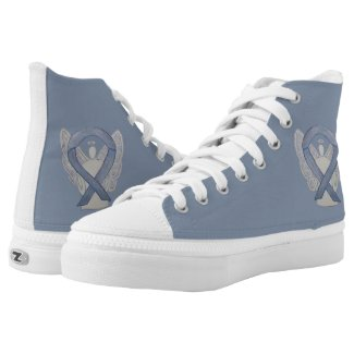 Silver Awareness Ribbon Angel Custom Shoes