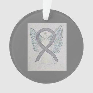 Silver Awareness Ribbon Angel Ornaments