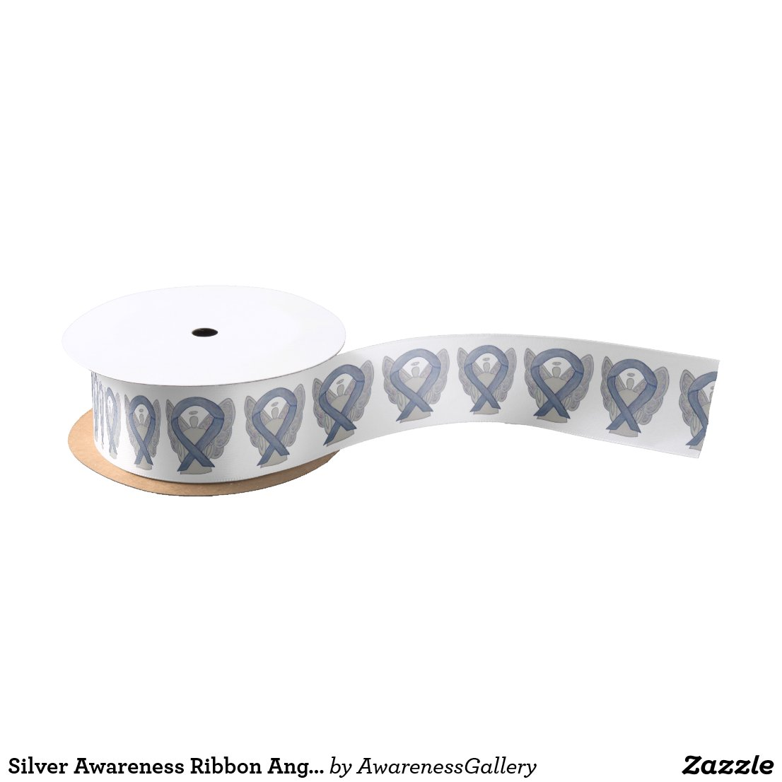 Silver Awareness Ribbon Angels Custom Design