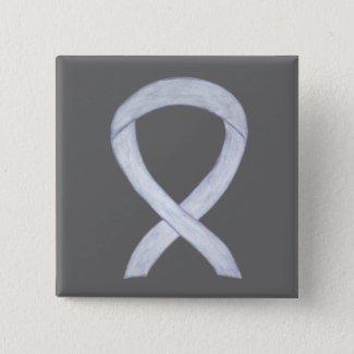 Silver Awareness Ribbon Custom Art Pins